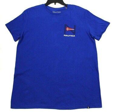 NWT Nautica Men's Blue Geometric Graphic T-Shirt Size M