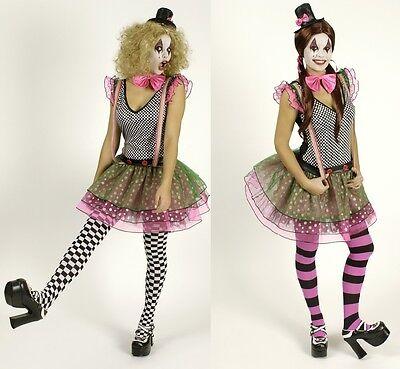 Kostüm Clown Pierrot Harlekin Kleid Gr 34 36 38 40 42 44 Clownskostüm Damen NEU