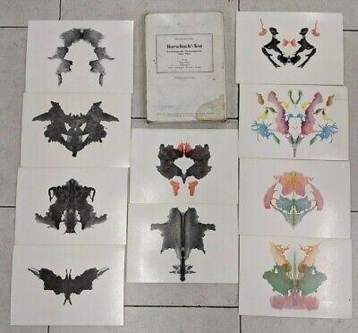 1994 HERMAN RORSCHACH Psychodiagnostics Ink Blot Test Plates - Switzerland