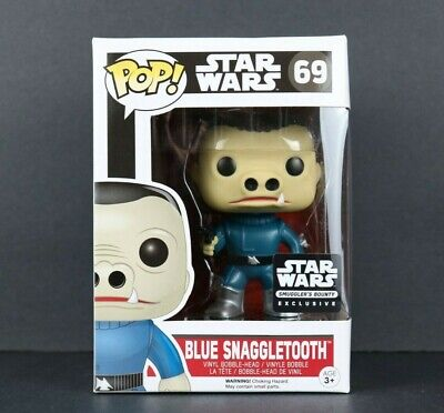 Funko Pop Star Wars Blue Snaggletooth #69 Smuggler's Bounty Exclusive Box Damage