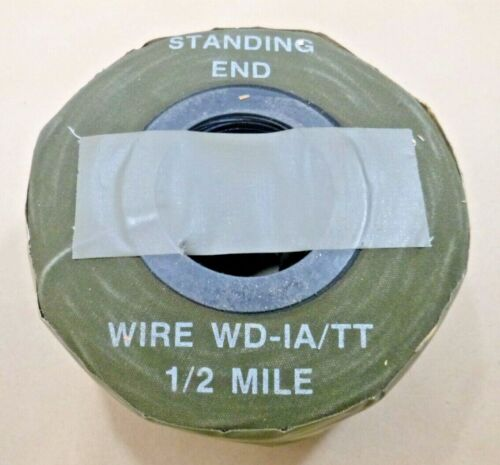 USGI 1/2 MILE OF WD-1A / TT FIELD WIRE MILITARY TELEPHONE CABLE MX 306 A/G