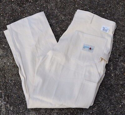 NWT! ACE DROP CLOTH TRADESMAN MENS 42 X 34 PAINTER PANTS WHITE MADE IN USA