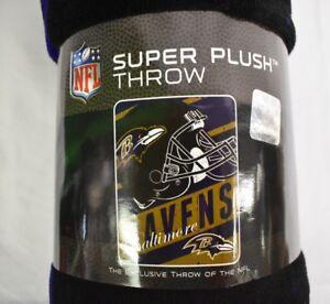 Northwest NFL Baltimore Ravens Football Super Plush Throw Blanket New