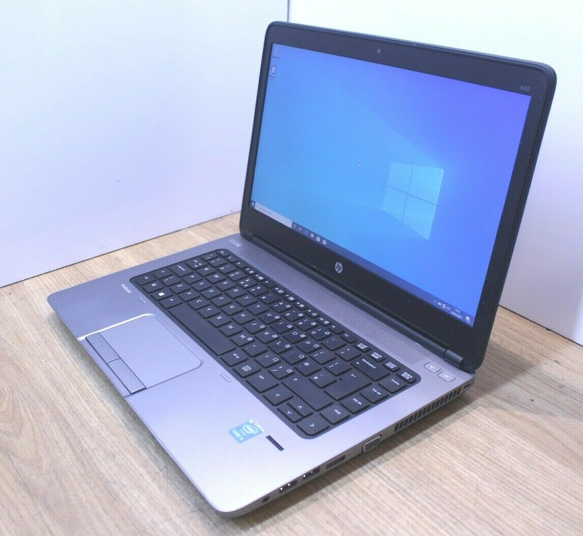 Laptop Windows - HP ProBook 640 G1 Windows 10 Laptop Intel Core i5 4th Gen 2.5GHz 4GB 120GB SSD