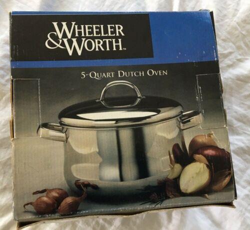 Vintage Wheeler & Worth 5 Quart Dutch Oven Pan!