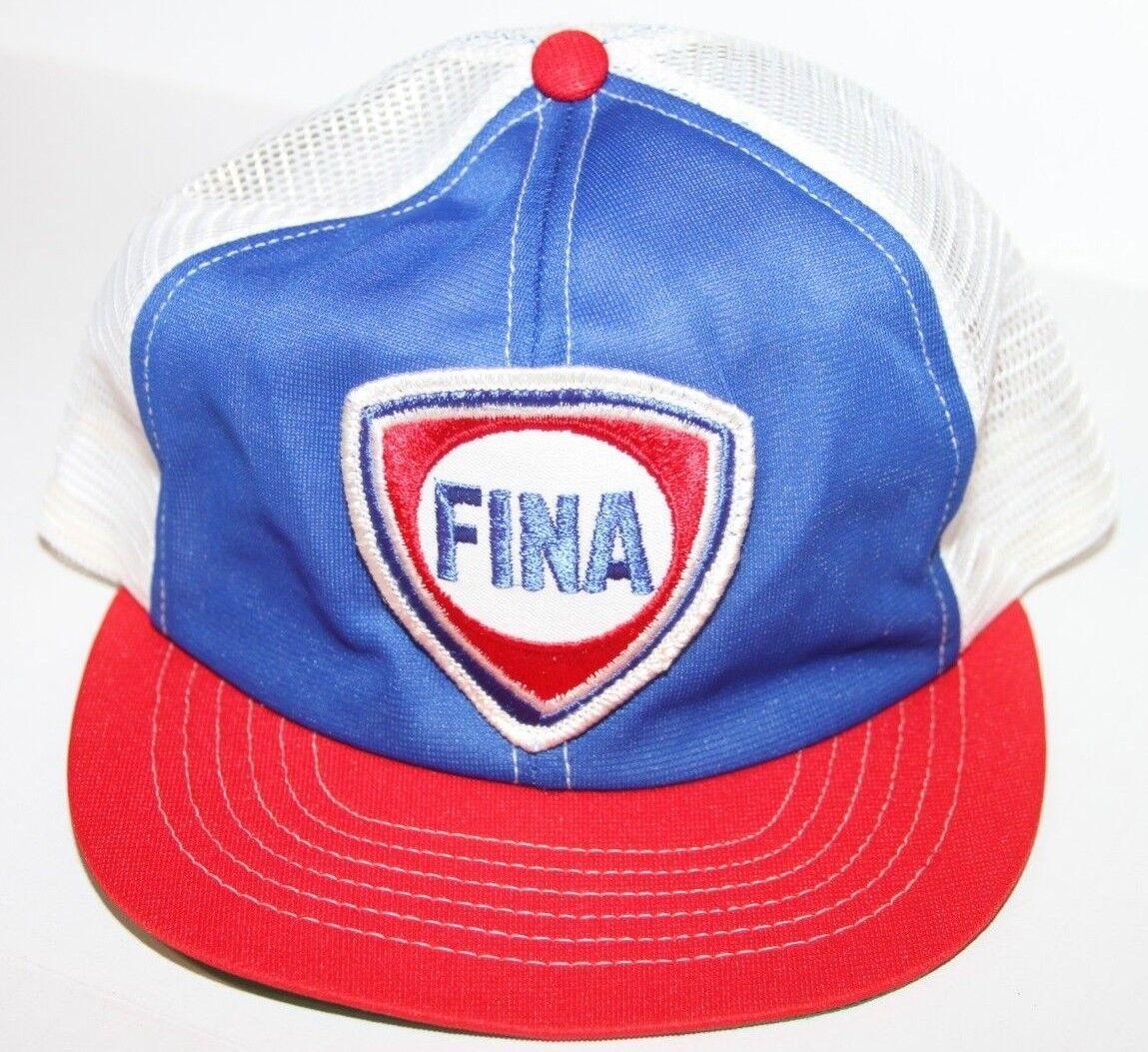 Vintage Fina Swingster Blue/Red/White Mesh Snapbac