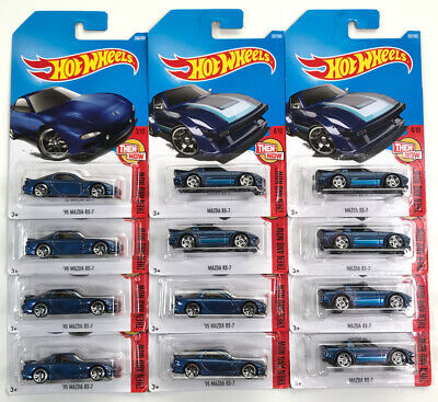 '95 MAZDA RX-7 Rotary Then And Now JDM Hot Wheels New Model i Card Lot FREE Ship