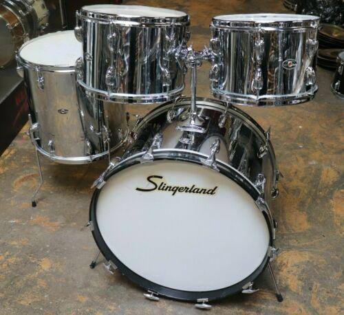 Slingerland 4pc Drum Kit Shell Pack Chrome 1970