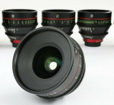 Canon CN-E Cinema Prime Lens Kit (24, 35, 50, 85mm) CNE 4 lenses Cine EF Mount