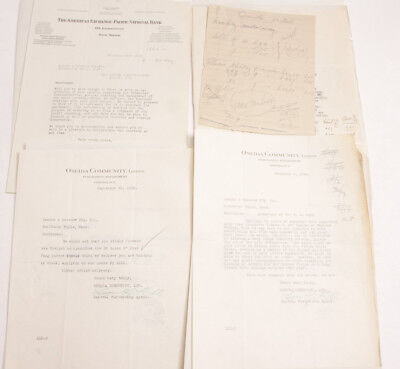 1926 Lamson Goodnow Oneida Ny Community American Exchange Bank Ephemera L221k