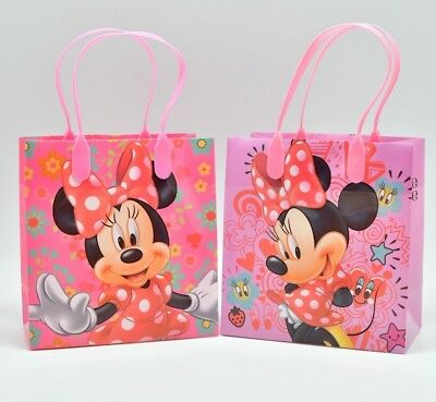 Minnie Mouse Party Favor Bags Disney Mickey Goodie Candy Loot Gifts (12 PACK) (Party Candy Bags)