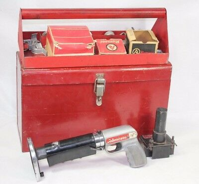 Rare Vintage Ramset Jobmaster 112md Olin Powder Actuated Fastener W Case Pins