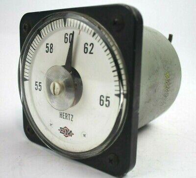 Vintage General Electric Db30 Frequency Meter 55-65 Hz