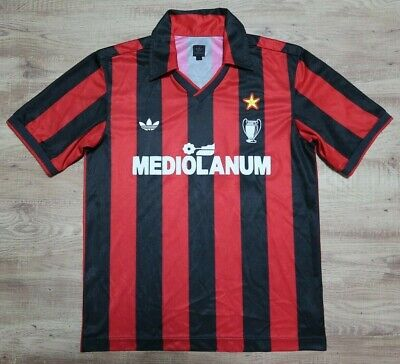 AC Milan Jersey Shirt 100% Official Reissue Repro 1992 Home Kit Men's S
