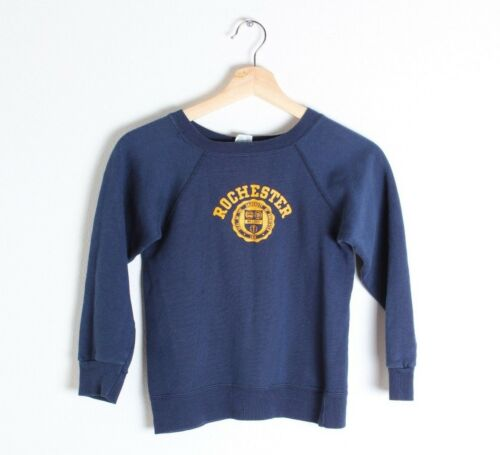 Vintage Kids 80s Champion Rochester NY Crewneck Sweatshirt Youth M