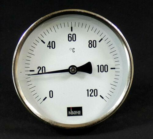 NATHE Bimetall-Thermometer  | 0-120 Celsius | Ø ca.100 mm |  Länge: ca. 40mm