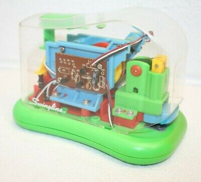 Swingline Clear Plastic Automatic Electric Stapler Battery Operated Green Tested