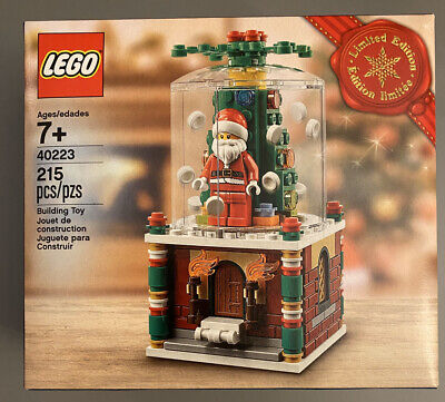 LEGO 40223 Christmas Limited Edition 2016 Santa Snowglobe Factory Sealed Retired