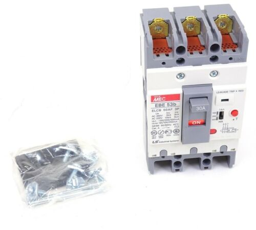 LS Industrial Systems Meta MEC EBE 53b Earth Leakage Circuit Breaker