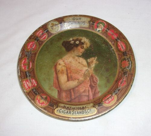 National Cigar Stands Co. Metal Tip Tray Tobacco Advertising Antique     T*