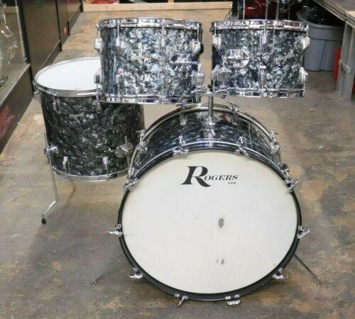 Rogers 4pc Drum Set Black Diamond Pearl Vintage 1960