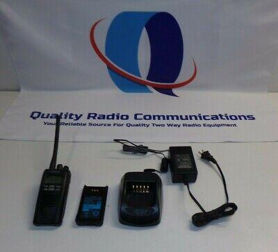 Kenwood Nexedge Nx-200-k 136-174 Mhz Vhf Two Way Radio W Ksc-32 Charger Nx-200