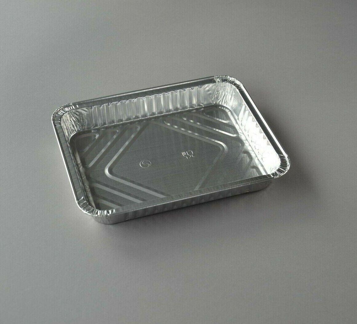 100 Aluschalen 930 ml R879G Grill-Schalen ungeteilt 226x176x30mm ohne Deckel