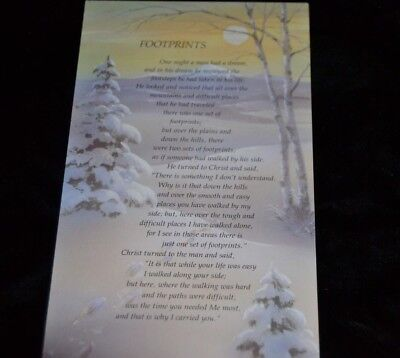 16 Vtg UNUSED Greeting Cards CHRISTMAS Religious FOOTPRINTS Quote Olympicard    - Christmas Religious Quotes