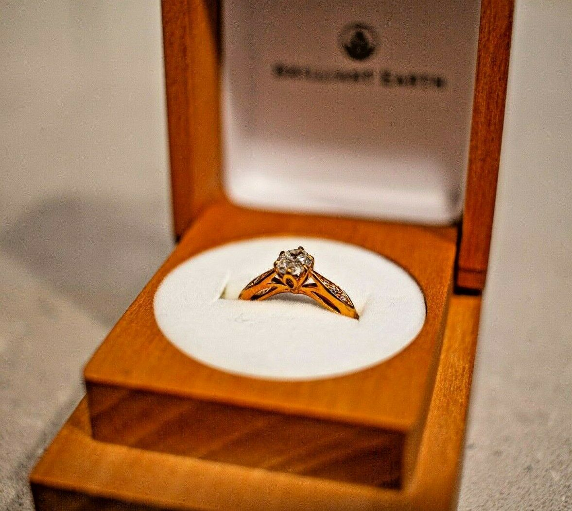 Brilliant Earth's Peony Engagement Diamond Ring (Size 5, 14k Rose Gold, .054ct) 4