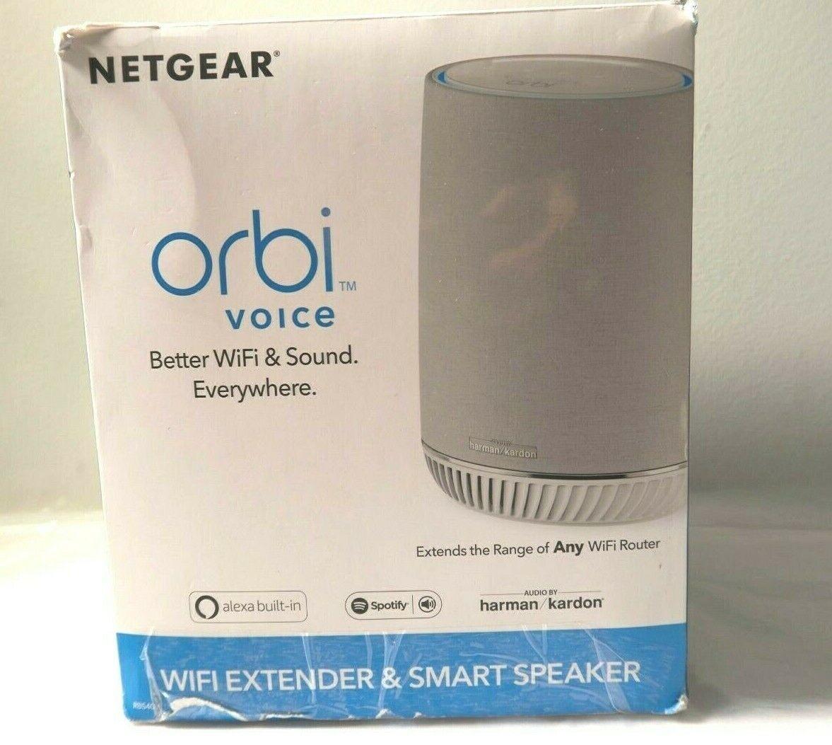 NETGEAR Orbi Voice Smart Speaker WiFi Mesh Extender - $87.00