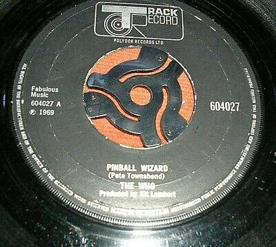 """THE WHO   -     Pinball Wizard,     ORIGINAL 1969 UK 7"""".... DECENT COPY"""