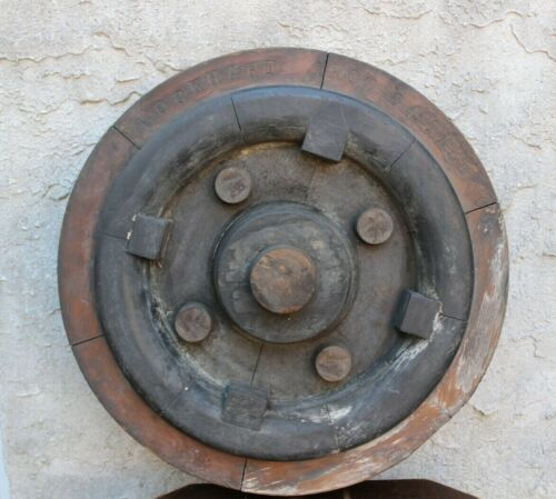 Antique Industrial Wooden Mold Foundry Pattern Lockhart Steel co