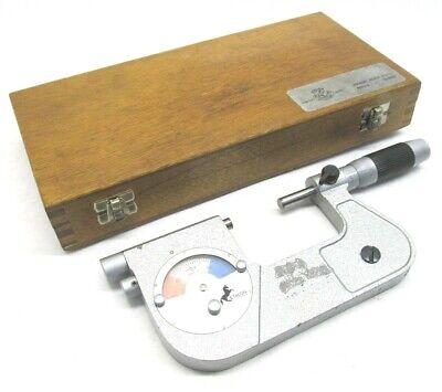 Swiss Etalon 1 To 2 Carbide-tipped Indicating Micrometer - .0001