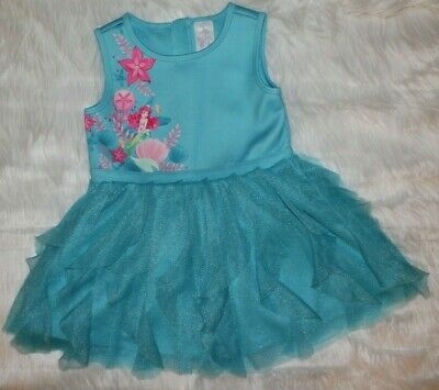 Disney Store Princess Ariel Little Mermaid Blue Dress Tulle Ruffle Girls 7/8 - Little Girls Clothing Store