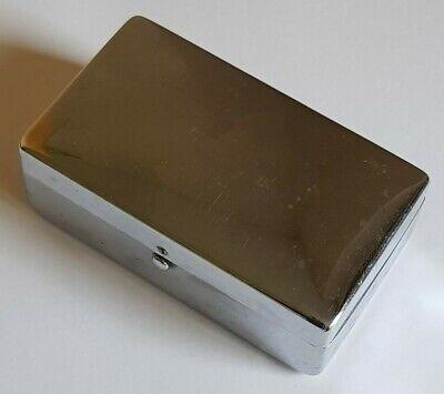 Antique/Vintage Small White Metal Storage Box