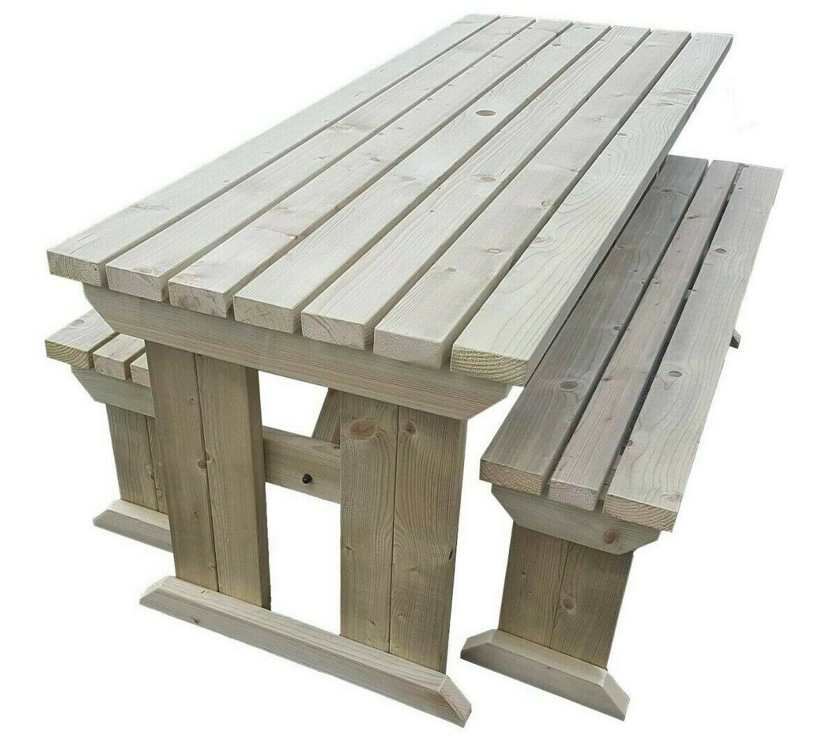 Garden Furniture - Picnic Table and Bench Set Wooden Outdoor Garden Furniture, Yews Compact