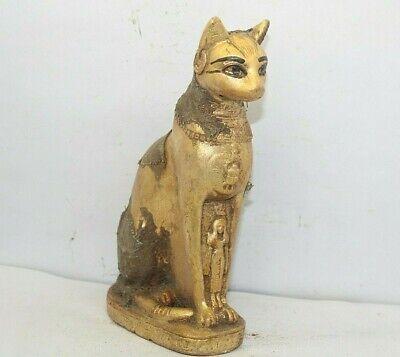 24kt GP Gold Egyptian Bastet Cat Earrings