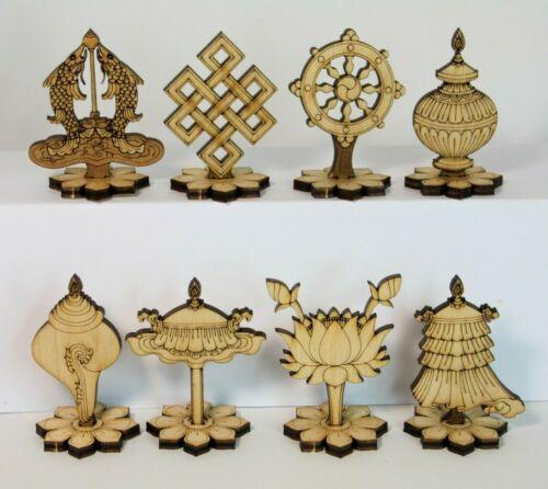 Eight Auspicious Symbols Dharma Wheel Buddhist Knot Lotus Goldenfish Dharmachakr