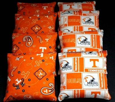 Shop For Cheap Cornhole Bean Bags W Tennessee Volunteers Vols Fabric Aca Reg Bags Sporting Goods Backyard Games