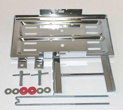 Stainless Steel Universal Battery Tray Holder Hold Down Kit Street Hot Rod Kit