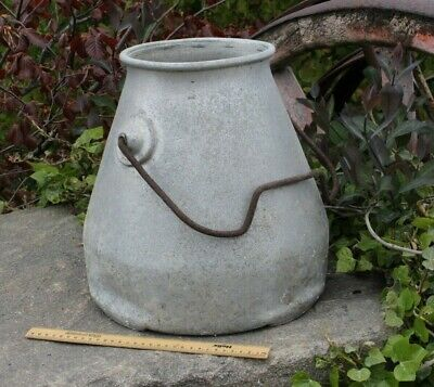 Vintage Milk Churn Garden Planter Aluminium No 2