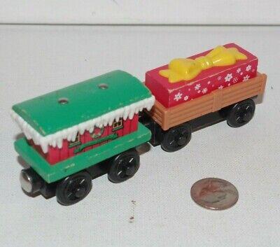 Thomas Friends Wooden Railway Train Tank - Winter Caboose & Present Cargo Car ()