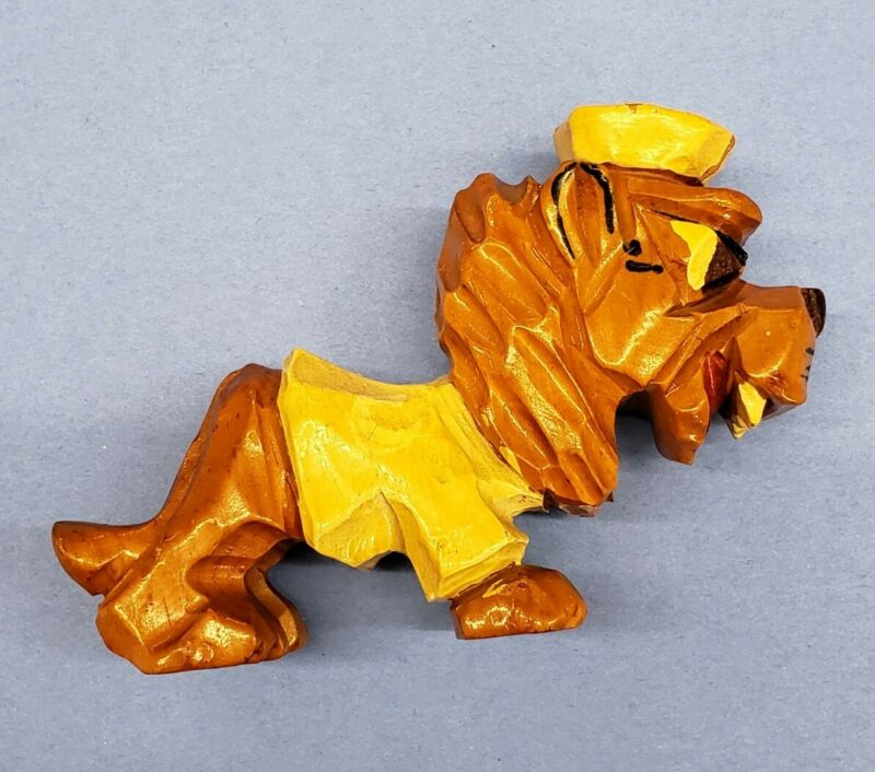 Vintage Carter Hoffman Carved Wood Columbia University Lions Mascot Figure
