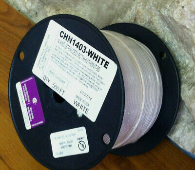 White On Sale----500 Ft Thhnthwn Wire 14 Awg Stranded 600 Volt. Made In Usa.