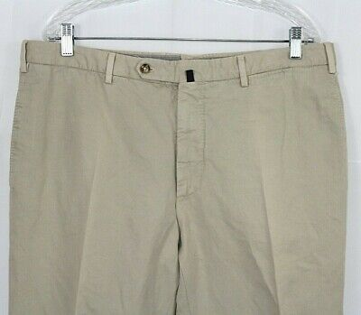 INCOTEX 36 X 31 Chinolino Cotton & Linen Flat Front Men's Pants