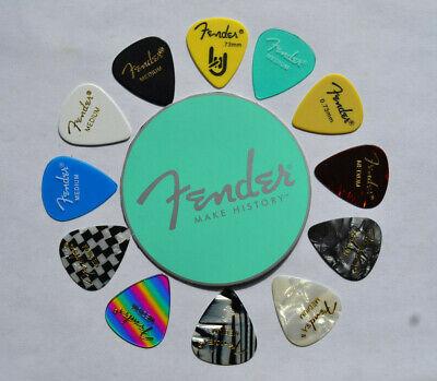 FENDER  MEDIUM GUITAR PICKS ASSORTED BLAST CUSTOM MADE (Guitar Picks Custom)