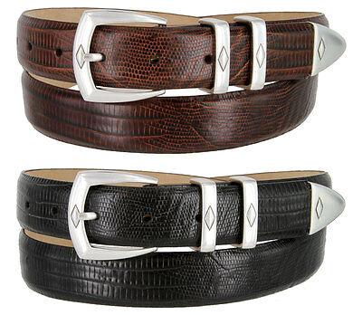 Brown Calfskin Belt (Canyon Mens Calfskin Leather Golf Dress Belt 1-1/8