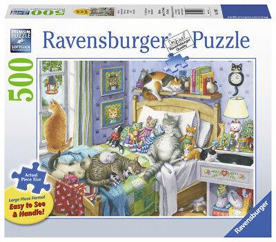 RAVENSBURGER PUZZLE*500 TEILE*CAT NAP*NICKERCHEN*RARITÄT*NEU+OVP