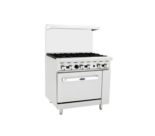 Atosa Ato-6b, 36-inch 6 Burner Heavy Duty Gas Range Single Oven Liquid Propane