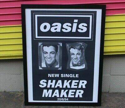Oasis - Shakermaker 1994 Rare Original Authentic Britpop Record Promo Poster comprar usado  Enviando para Brazil